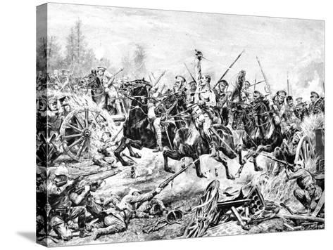 The Charge of the 9th Lancers at a German Battery Near Mons--Stretched Canvas Print