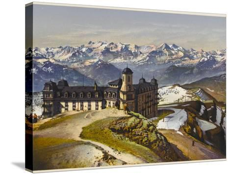 Swiss Alps: on the Rigi Summit, with the Bernese Alps in the Distance--Stretched Canvas Print