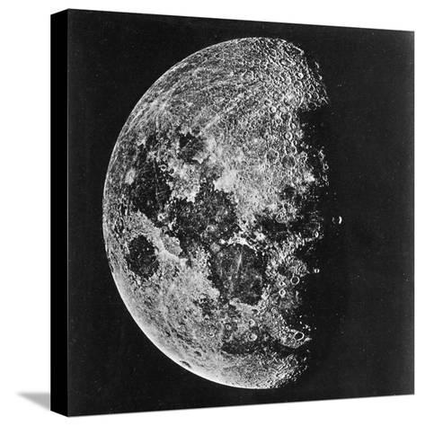 The Moon Photographed on the Tenth Day of the Lunar Cycle--Stretched Canvas Print