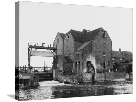 Tewkesbury Watermill--Stretched Canvas Print