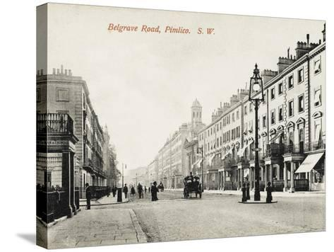 View Looking Down Belgrave Road, Pimlico, London--Stretched Canvas Print
