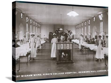 Wigram Ward of King's College Hospital, Denmark Hill, S.E. London--Stretched Canvas Print