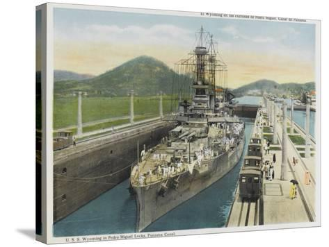 Wyoming Warship--Stretched Canvas Print