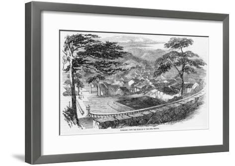 The Town Viewed from the Terrace of the Siwa Temple--Framed Art Print