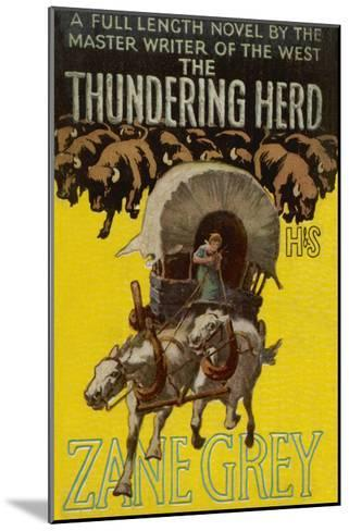 The Thundering Herd--Mounted Giclee Print