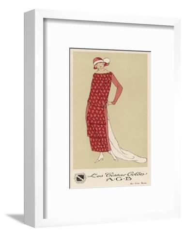 Tissus Dress by Agb--Framed Art Print