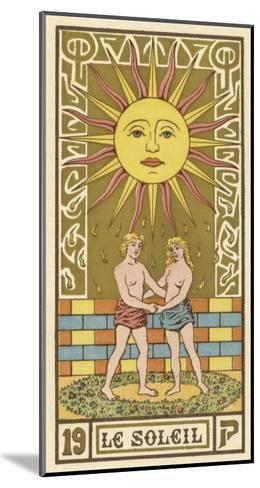 The Sun Depicted on a Tarot Card--Mounted Giclee Print