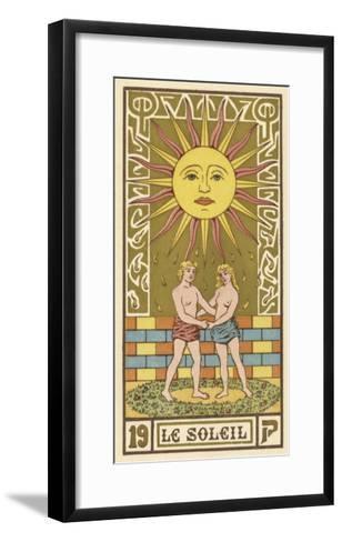 The Sun Depicted on a Tarot Card--Framed Art Print
