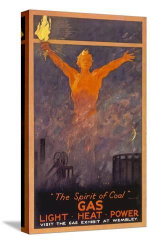 The Spirit of Coal - Gas, Light, Heat and Power (Wembley Exhibition)--Stretched Canvas Print