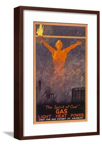 The Spirit of Coal - Gas, Light, Heat and Power (Wembley Exhibition)--Framed Art Print