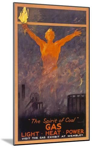 The Spirit of Coal - Gas, Light, Heat and Power (Wembley Exhibition)--Mounted Giclee Print