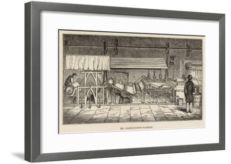 The Paper 'Mix' Passes Through a Sequence of Operations on the Paper-Making Machine--Framed Art Print