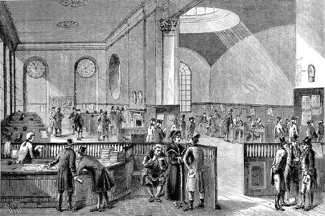 The Subscription Room at Lloyd's of London, 18th Century--Stretched Canvas Print