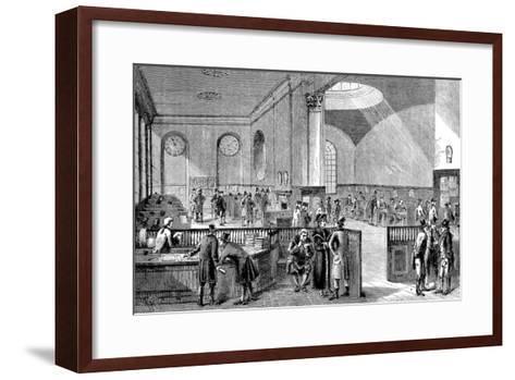 The Subscription Room at Lloyd's of London, 18th Century--Framed Art Print