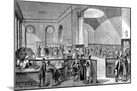 The Subscription Room at Lloyd's of London, 18th Century--Mounted Giclee Print