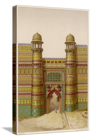 The Royal Palace : the Entrance Gate--Stretched Canvas Print