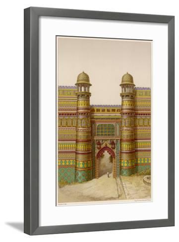The Royal Palace : the Entrance Gate--Framed Art Print