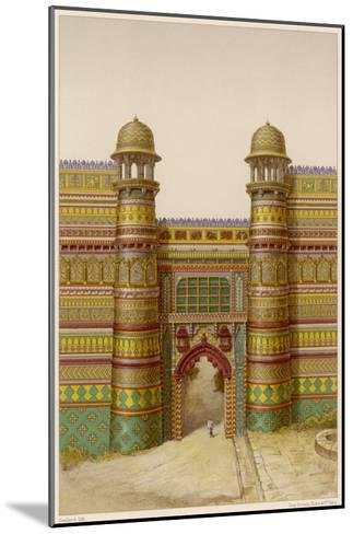 The Royal Palace : the Entrance Gate--Mounted Giclee Print