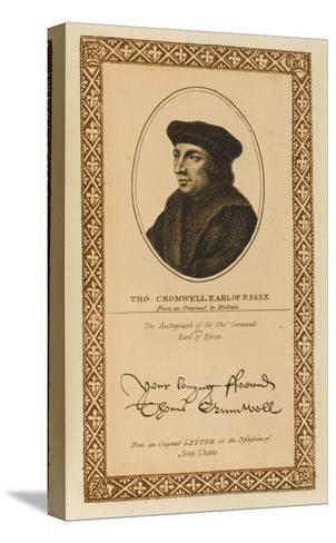 Thomas Cromwell, Earl of Essex Statesman with His Autograph--Stretched Canvas Print