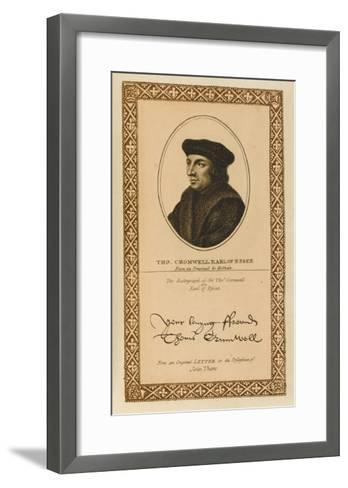 Thomas Cromwell, Earl of Essex Statesman with His Autograph--Framed Art Print