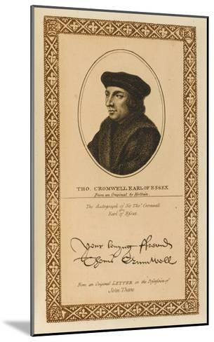 Thomas Cromwell, Earl of Essex Statesman with His Autograph--Mounted Giclee Print