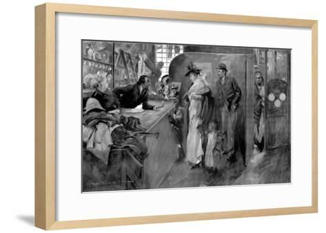 The Pawnshop as a Last Resource--Framed Art Print