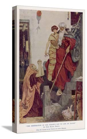 The Prophet Elijah Restores a Widow's Son to Life--Stretched Canvas Print