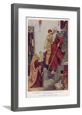 The Prophet Elijah Restores a Widow's Son to Life--Framed Art Print