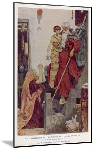 The Prophet Elijah Restores a Widow's Son to Life--Mounted Giclee Print