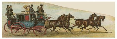 The Private Coach of Mr Oakley, a Prominent Figure in the Coaching Revival--Stretched Canvas Print