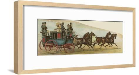 The Private Coach of Mr Oakley, a Prominent Figure in the Coaching Revival--Framed Art Print