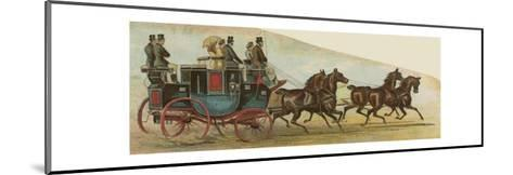 The Private Coach of Mr Oakley, a Prominent Figure in the Coaching Revival--Mounted Giclee Print