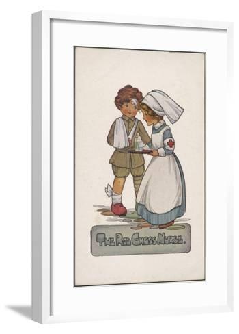 The Red Cross Nurse--Framed Art Print