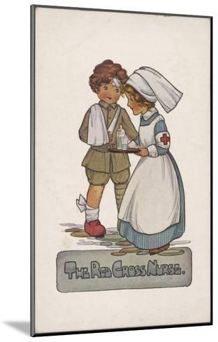 The Red Cross Nurse--Mounted Giclee Print