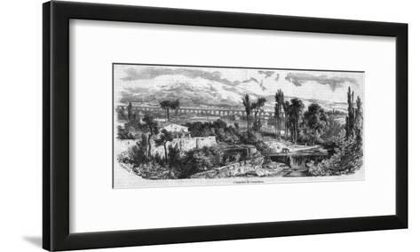 The Roman Aqueduct at Carpentras--Framed Art Print