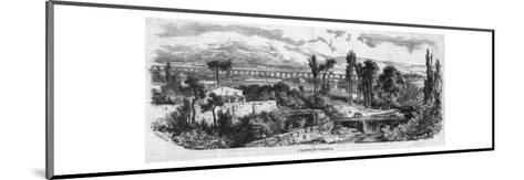 The Roman Aqueduct at Carpentras--Mounted Giclee Print