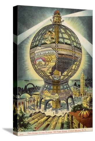 The Steel Globe Tower, 700 Feet High, on Coney Island, New York, America--Stretched Canvas Print