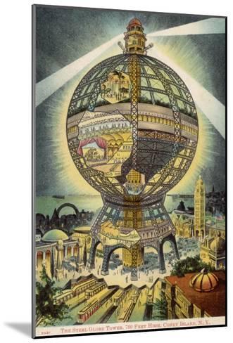 The Steel Globe Tower, 700 Feet High, on Coney Island, New York, America--Mounted Giclee Print