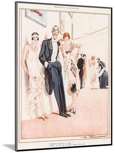 Two Flappers and their Friend--Mounted Giclee Print