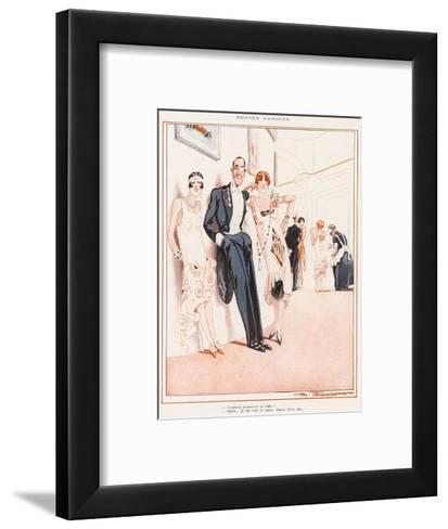 Two Flappers and their Friend--Framed Art Print