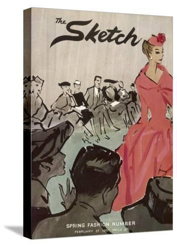 The Sketch Front Cover, 1957--Stretched Canvas Print