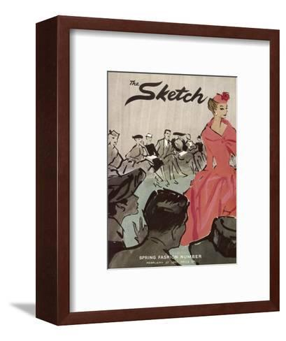 The Sketch Front Cover, 1957--Framed Art Print