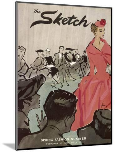 The Sketch Front Cover, 1957--Mounted Giclee Print