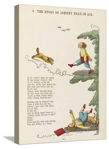 The Story of Johnny Head-In- Air Johhny Collides with a Dog--Stretched Canvas Print