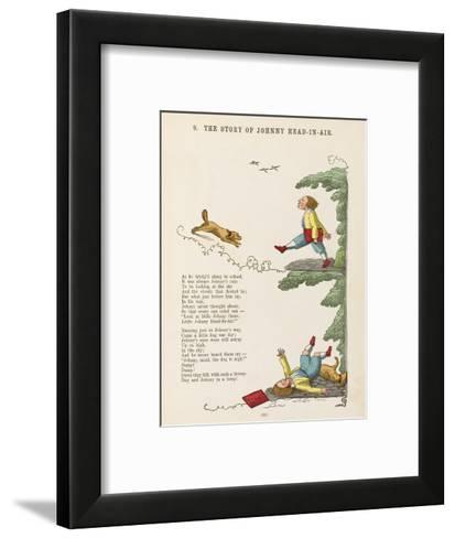 The Story of Johnny Head-In- Air Johhny Collides with a Dog--Framed Art Print
