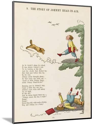 The Story of Johnny Head-In- Air Johhny Collides with a Dog--Mounted Giclee Print