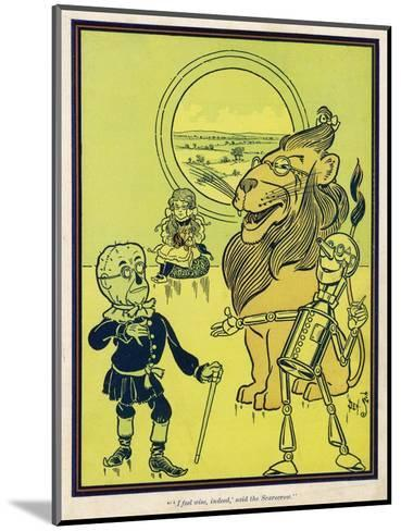 The Scarecrow, the Tin Woodman and the Lion Acquire Heart, Brains and Courage--Mounted Giclee Print