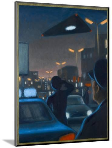 Triangle-Shaped UFO Observed over Brussels-Michael Buhler-Mounted Giclee Print