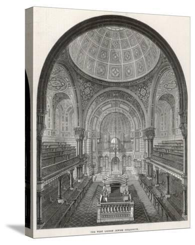 The West London Jewish Synagogue, 1872--Stretched Canvas Print