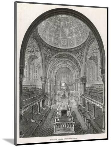 The West London Jewish Synagogue, 1872--Mounted Giclee Print